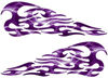 Tribal Style Flame Decals in Lightning Purple