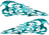 Tribal Style Flame Decals in Lightning Teal