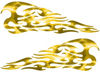 Tribal Style Flame Decals in Lightning Yellow