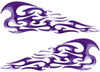 Tribal Style Flame Decals in Purple