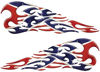 Tribal Style Flame Decals with Rebel Confederate Flag