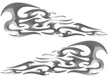 Tribal Style Flame Graphics in Real Steel