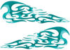 Tribal Style Flame Decals in Teal