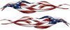 Twisted Tribal Flame Decal Kit with American Flag