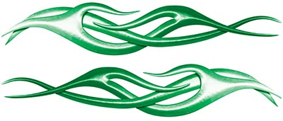 Twisted Tribal Flame Decal Kit in Green