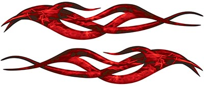 Twisted Tribal Flame Decal Kit in Inferno Red