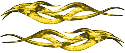 Twisted Tribal Flame Decal Kit in Inferno Yellow