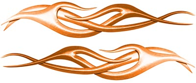 Twisted Tribal Flame Decal Kit in Orange