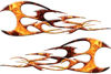 Twisted Tribal Flames Motorcycle Tank Decal Kit in Inferno