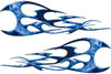 Twisted Tribal Flames Motorcycle Tank Decal Kit in Blue Inferno