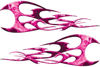 Twisted Tribal Flames Motorcycle Tank Decal Kit in Pink Inferno
