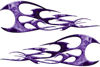 Twisted Tribal Flames Motorcycle Tank Decal Kit in Purple Inferno