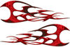 Twisted Tribal Flames Motorcycle Tank Decal Kit in Red Inferno