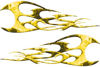 Twisted Tribal Flames Motorcycle Tank Decal Kit in Yellow Inferno