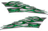 Motorcycle Tank Flame Decal Kit in Green Camouflage