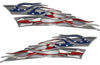 Motorcycle Tank Flame Decal Kit with American Flag
