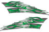 Motorcycle Tank Flame Decal Kit in Green