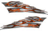 Motorcycle Tank Flame Decal Kit in Orange Inferno Flames
