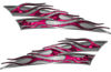 Motorcycle Tank Flame Decal Kit in Pink Inferno Flames