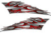 Motorcycle Tank Flame Decal Kit in Red Inferno Flames