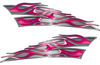 Motorcycle Tank Flame Decal Kit in Pink