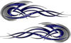 Tribal Flames Motorcycle Tank Decal Kit in Blue Camouflage