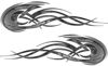 Tribal Flames Motorcycle Tank Decal Kit in Gray Camouflage