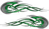 Tribal Flames Motorcycle Tank Decal Kit in Green Camouflage
