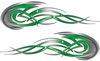 Tribal Flames Motorcycle Tank Decal Kit in Green