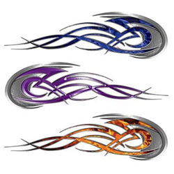 Custom Motorcycle Tank Tribal Flame Decals