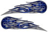 Twin Flame Motorcycle Tank Decal in Blue Camouflage