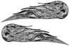 Twin Flame Motorcycle Tank Decal in Gray Inferno Flames