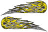 Twin Flame Motorcycle Tank Decal in Yellow Inferno Flames