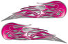 Twin Flame Motorcycle Tank Decal in Pink