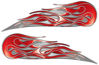 Twin Flame Motorcycle Tank Decal in Red