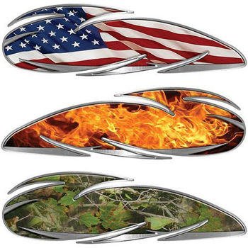 Custom Built Motorcycle Tank Decals