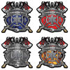 Firefighter Paramedic Decals with Maltese Cross, Star of Life and Twin Axes