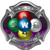 Hazmat Hazardous Materials Response Team Fire Fighter Decal with Maltese Cross in Reflective Purple