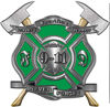 Never Forget 911 Bravery Honor and Sacrifice 9-11 Firefighter Memorial Decal in Green