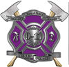 Never Forget 911 Bravery Honor and Sacrifice 9-11 Firefighter Memorial Decal in Purple