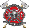 Never Forget 911 Bravery Honor and Sacrifice 9-11 Firefighter Memorial Decal in Red