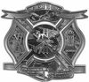 The Desire To Serve Firefighter Maltese Cross Reflective Decal in Gray Camouflage