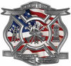 The Desire To Serve Firefighter Maltese Cross Reflective Decal with American Flag