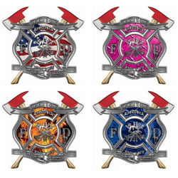 Desire to Serve Twin Axe Firefighter Decals
