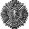 Traditional Fire Department Fire Fighter Maltese Cross Sticker / Decal in Gray Camouflage