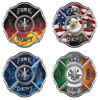 Traditional Fire Department Firefighter Maltese Cross Decals