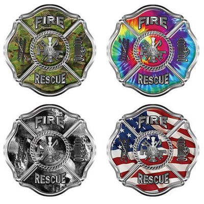 Traditional Fire Rescue Firefighter Maltese Cross Decals