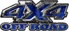 4x4 Truck Decals Offroad for Chevy Ford Dodge or Toyota in blue camo