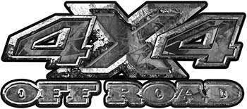 4x4 Truck Decals Offroad for Chevy Ford Dodge or Toyota in gray camo