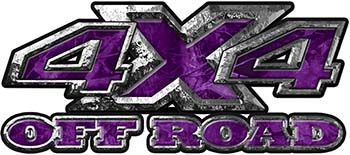 4x4 Truck Decals Offroad for Chevy Ford Dodge or Toyota in purple camo